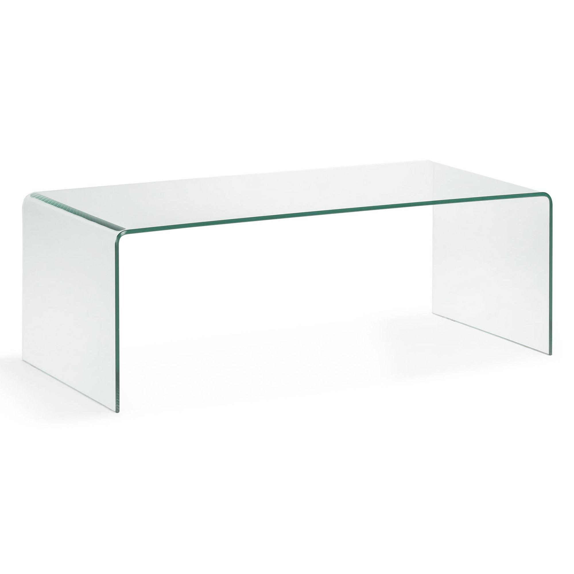 Burano mesa centro 110x38 cristal transparente - Mesa centro transparente ...